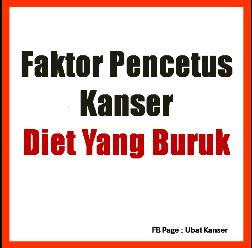 Faktor Pencetus Kanser Diet Yang Buruk