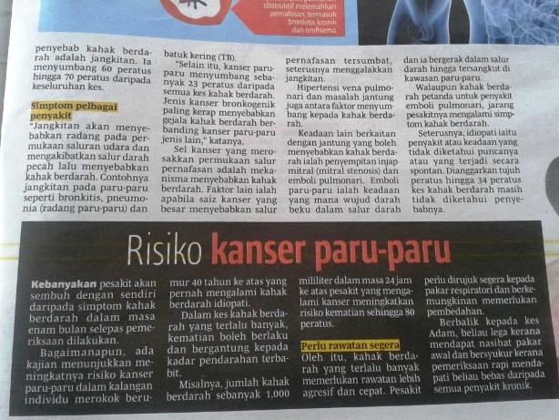 4 Risiko Kanser Paru-Paru