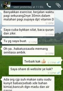 Testimoni Kak Wan 3_ubatkanser.my