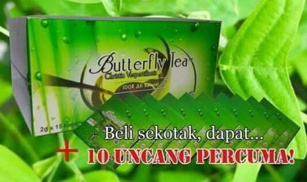 Percuma 10 uncang teh daun rerama