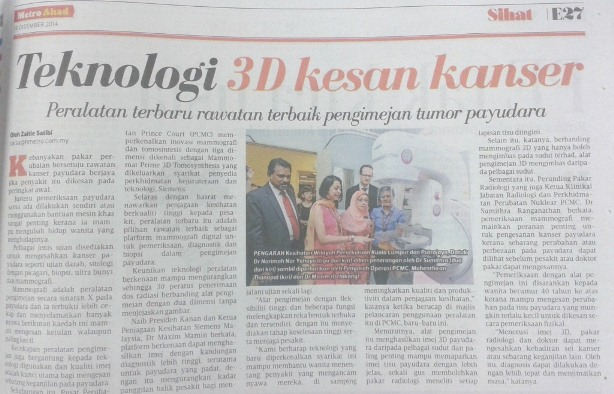 Teknologi 3D Kesan Kanser